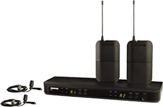 Shure BLX188/CVL Dual Channel Lavalier Wireless System with 2 CVL Lavalier Microphones, H9