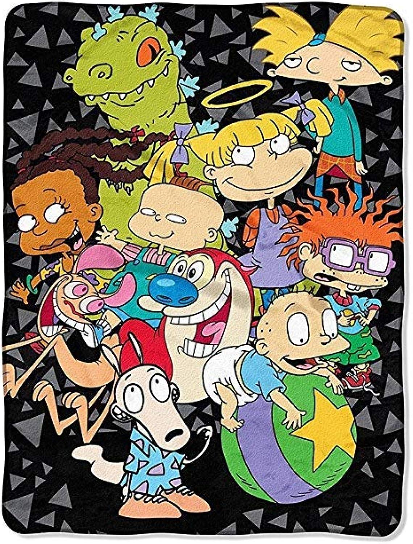 The Northwest Company Nickelodeon Rewind The Spin Room Micro Raschel Throw (46 x60 )