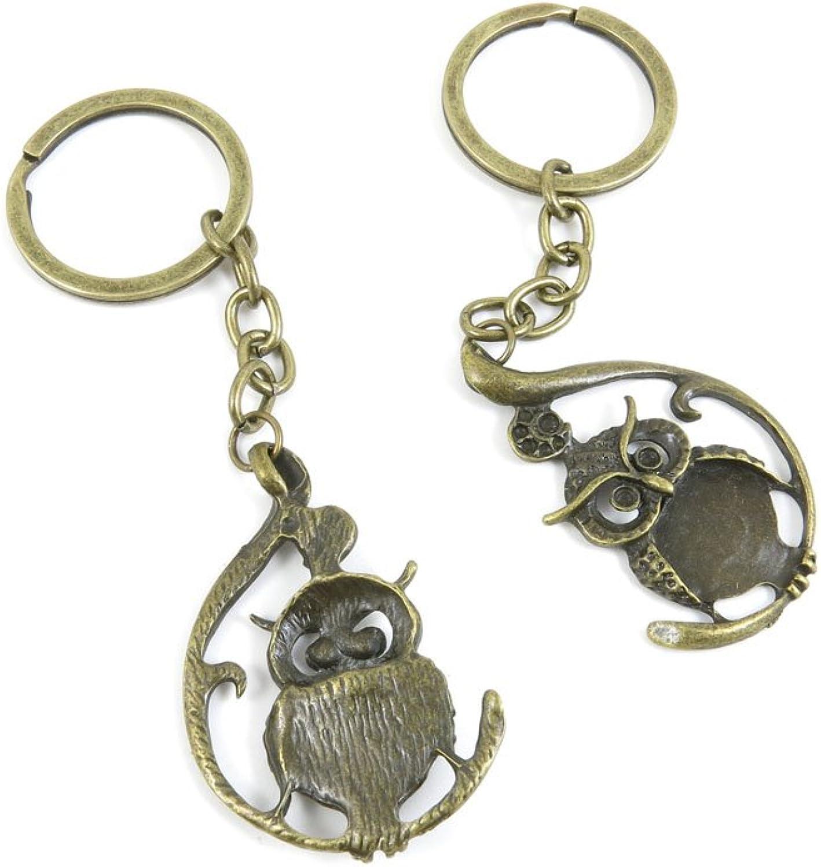 40 PCS Keyring Car Door Key Ring Tag Chain Keychain Wholesale Suppliers Charms Handmade R1VJ1 Owl
