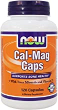 Now Foods Cal-mag Caps Supplement Supports Bone Health Calcium Metabolism with Trace Minerals and Vitamin D 120 Caps