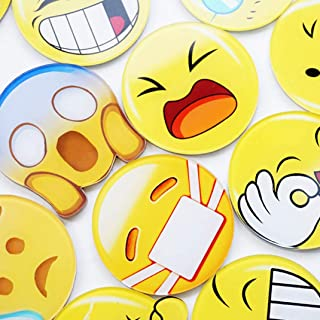 Niuluoke Popular Magnets Size Random  Magnet Sticker Smiley 5Pcs Face Goods Cute Toy Personality Cute Emoji Refrigerator Fun Fridge None Random-contraband