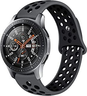 Compatible Samsung Gear S3 Frontier/Samsung Galaxy Watch 46mm Bands,22mm Silicone Breathable...