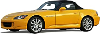 Compatible With Honda S2000 Convertible Top (2000-01) Black Stayfast Cloth with Glass Window Black