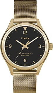 Waterbury Traditional Quartz Movement Black Dial Ladies Watch TW2T36400