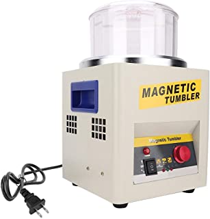 and More VPABES Magnetic Tumbler Jewelry Polisher 4 Speeds Control Magnetic Grinding and Polishing Machine for Platinum Gold Silver