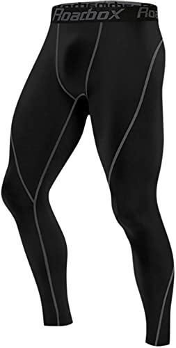Roadbox 1, 2 or 3 Pack Men's Compression Pants Base Layer Tights Leggings