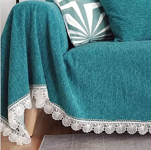 LAMEIDA Sofa Handtuchbezug Sofabezug Tagesdecke Einfarbig Wohndecke Baumwolle Bett Überwurf Sofaüberwurf für dem Stuhl Sofa und Bet