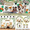 218 Piece Woodland Baby Shower Decorations for Boy Or Girl Kit   Gender Neutral Forest Animal Decor   Banners Garland Fans Guestbook Sash Balloons Cake Topper Games Stickers Creature Cutouts Ivy Vines #5