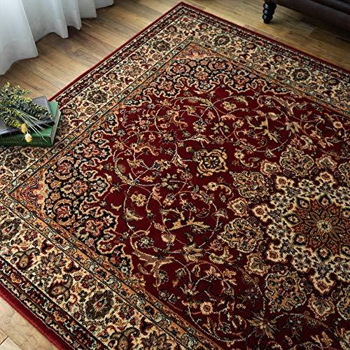 サヤンサヤン ペルシャ絨毯 柄 ラグマット ロイヤルガーデンⅡ 240х330 6畳 レッド ウール