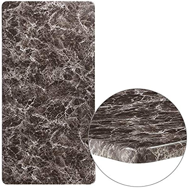 Emma Oliver 30 X 60 Rectangular Gray Marble Laminate Table Top