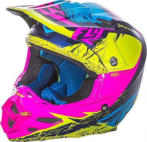 Fly Racing Unisex's 73-42292X F2 MIPS Retrospec Helmet, Matte Hi-vis/Pink, XXL