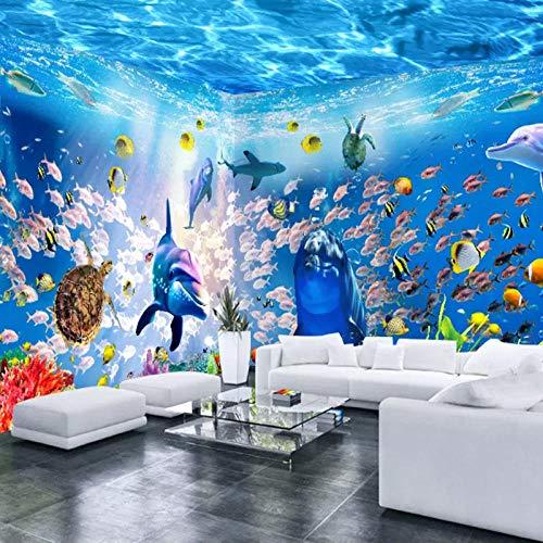 Hotel Wall_Children's Room Benutzerdefiniertes Wandbild Underwater World Wallpaper Shop für Mütter und Kinder Swimming Pool Wallpaper Ocean Theme Hote fototapete 3d effekt tapete tapeten -350cm×256cm