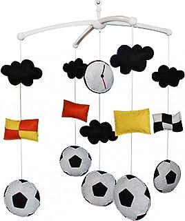 Football Jouet de décoration de lit bébé Mobile musical musical pour berceau fait main en