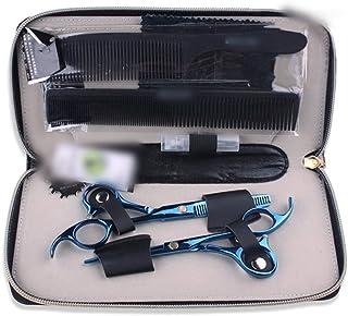 YLLN Haarschaar Set, Blauw Professionele Schaar 5,5 Inch Kappersschaar Set Schaar Styling Gereedschap, Blauw