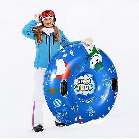YXIU Aufblasbare Schlitten f/ür Erwachsene Kinder 31 Zoll Snow Tube Reifen Verdicken K/älteschutz Schwerlast Schneereifen Rodelreifen mit Sicherheit Griffen