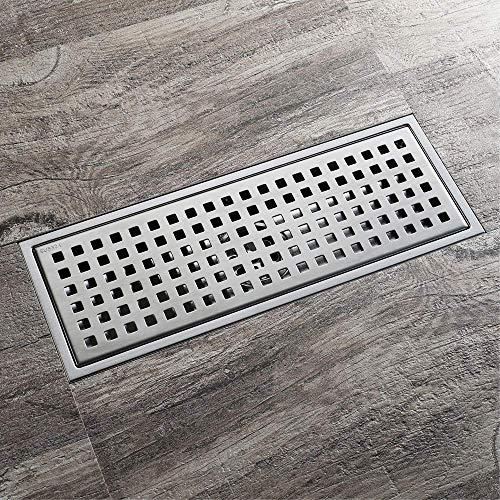 DYR Badezimmer Küche Edelstahl Bodenablauf, 100 * 100 mm quadratisch rund, 110 * 300 mm Rechteck, H120 (110 * 300 mm)