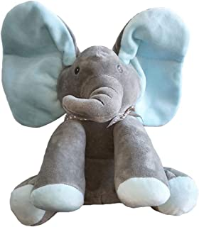Animated Talking Singing Elephant Plush Toy ,Baby Animated Elephant Plush Cute Toys gift Stuffed Doll for Baby Tollders Kids Boys Girls Gift Present(blue)