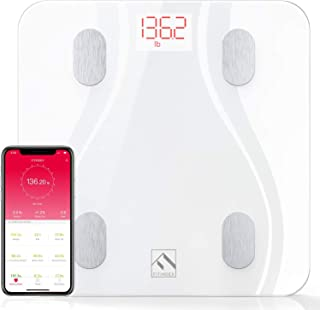 FITINDEX Smart Bluetooth Body Fat Scale with Upgraded App, High Precision Bathroom Scales Digital Weight and Body Fat Body...