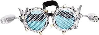 FUT Cyber Goggles Victorian Steampunk Welding Goth Cosplay Rustic Mesh Vintage Retro Goggles