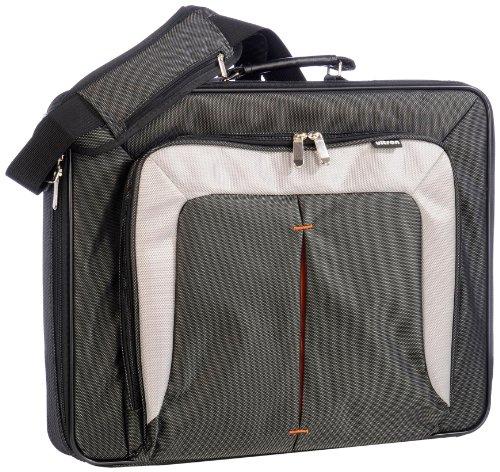 ULTRON NB Tasche 43,9 cm 17,3Zoll UT-17 m. extra Faechern Schultergurt Farbe: schw./grau Carbon Spritzwasserschutz Polyester