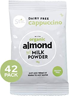 Stir Dairy Free Cappuccino Mix - Instant Cappuccino Mix with Non Dairy Creamer - Vegan Cappuccino Coffee - Gluten Free Cappuccino Instant Coffee Mix - 42 x 18g Individual Sachets