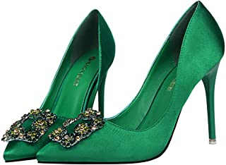 2356324de4488 Amazon.com: Green - Pumps / Shoes: Clothing, Shoes & Jewelry