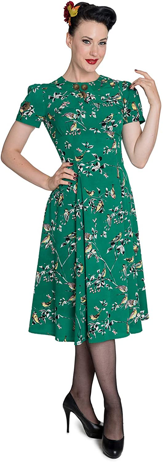 10+ Websites with 1940s Dresses for Sale Hell Bunny Birdy 40s 50s Tea Party Pin Up Landgirl WW2 Retro Vintage Style Dress  AT vintagedancer.com