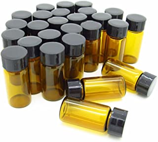 Liquid Sample Collection Glass Bottles Vials Screwcap Capacity 5ml 1/6 oz Pack of 50