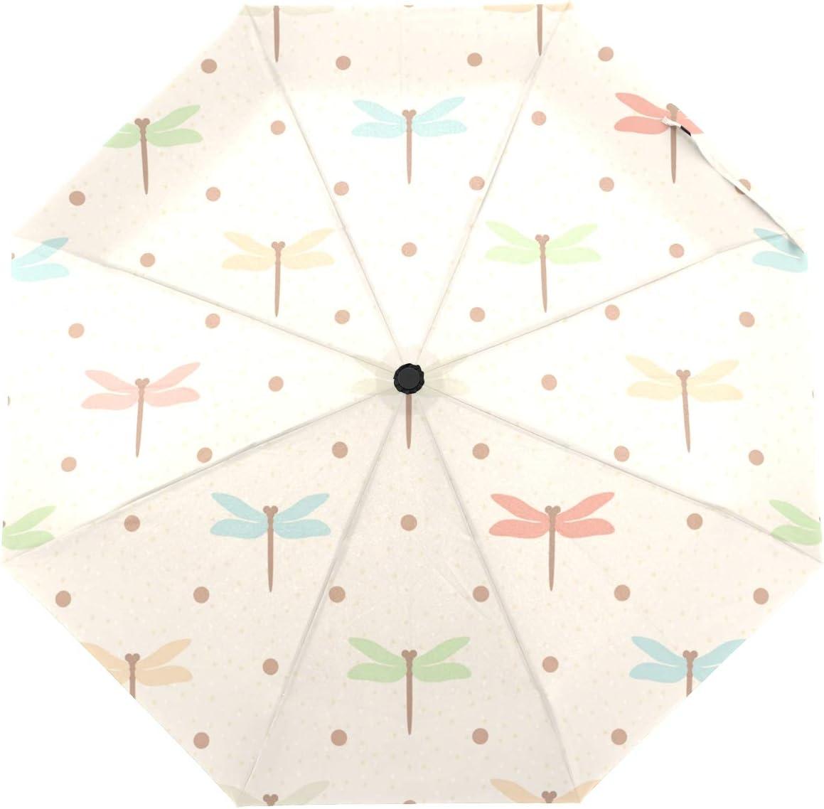 OREZI Automatic Open Max 75% OFF Challenge the lowest price Close Folding Umbrella Dragonflies An Color