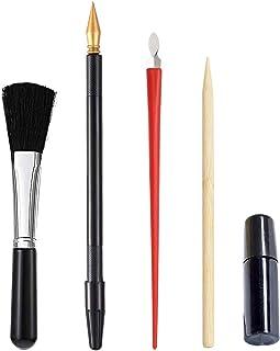 Wenxiaw Bâtons de Peinture à Gratter Ensemble D'art de Stylo à Gratter Ensemble D'outils Scratch Arts avec Stylo à Gratter...