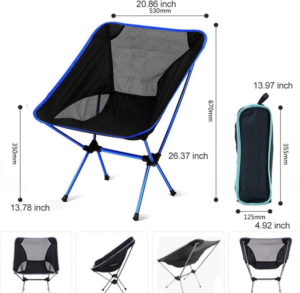 MIAOYO Chaise De Camping Pliante en Plein Air, Fauteuil Pliable avec Idéal pour Les Pique-Niques,Bleu Blue