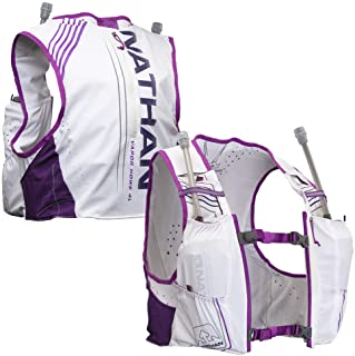 Nathan Women's Hydration Pack/Running Vest - VaporHowe 4L 2.0-4L Capacity with Twin 20 oz Soft flasks Bottles, Hydration B...