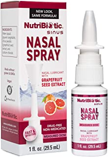 NutriBiotic Nasal Spray | 1 FL OZ Nasal Lubricant with Grapefruit Seed Extract and Sodium Chloride | Helps Flush Irritants...