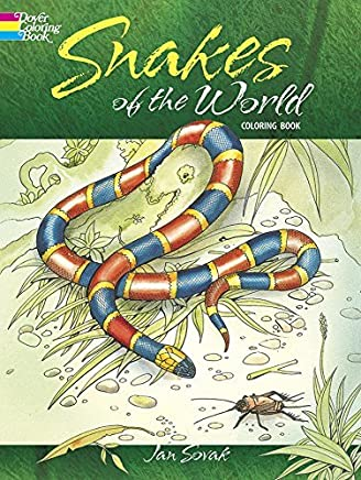 Snakes of the World Coloring Book (Dover Nature Coloring Book) by Jan Sovak (1995-03-30)