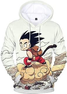 YIMIAO Uomo Felpa con Cappucio 3D Stampato Dragon Ball Goku Super Saiyan Hoodie Hip Hop