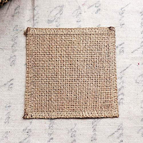 Alfombrilla de lino de arpillera de arpillera natural, posavasos, tapetes, tapetes, decoración de comedor, vajilla, alfombrilla para el banquete de boda en casa