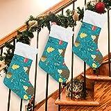 LIUBT Calze di Natale a Forma di porcospino con Mela, 45 cm, Multi, 17.71x12.20inx1