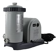 Intex 1500 GPH Above Ground Pool Filter Pump Replacement ONLY with Hoses