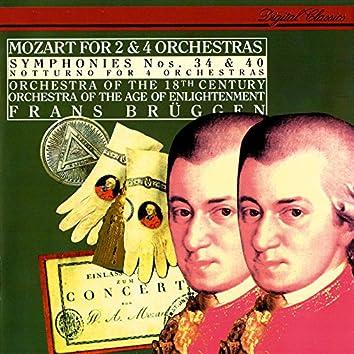 Mozart: Symphonies Nos. 34 & 40; Notturno for 4 Orchestras