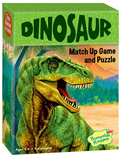 Peaceable Kingdom Dinosaur 24 Card Match Up Memory Game and Floor Puzzle for...