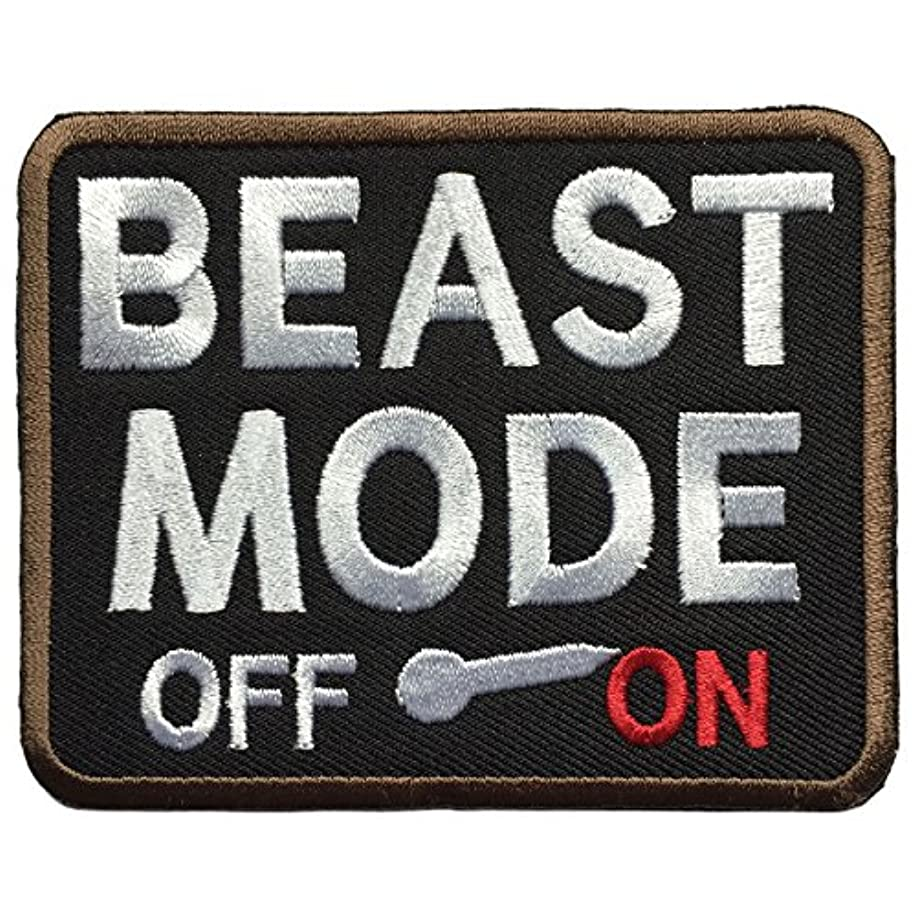 SpaceCar Beast Mode On Military Tactical Morale Badge Patch 3.5