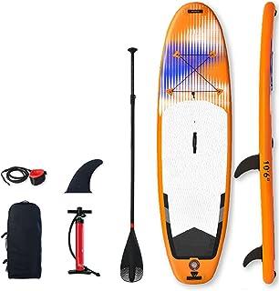 """Uppblåsbar Stand Up Paddle Board,SUP Surfboard Set,5""""Tjock,Kajak,för alla nivåer Vuxna barn,med tillbehör Luftpump,Ryggsäc..."""