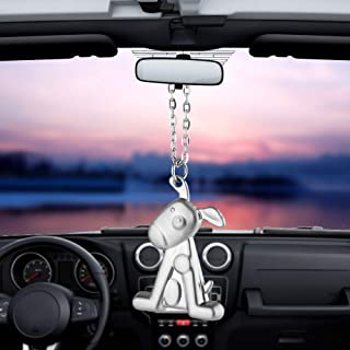 BEMOST Angel Wing Cute Dog Violin Car Pendant Auto Interior Rear View Mirror Decoration Accessories Styling (Cute Dog)