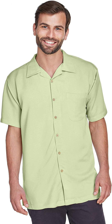 Harriton Men's Bahama Cord Camp Shirt - X-Large - Green Mist