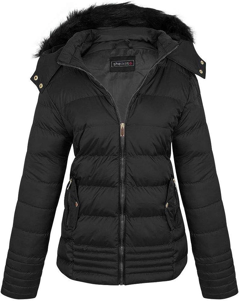 Shelikes Womens Puffa Winter Fashion Jacket