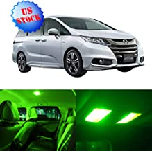 SCITOO LED Interior Lights 15pcs Green Package Kit Accessories Replacement for 2011-2016 Honda Odyssey