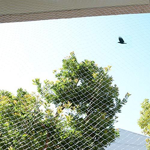 防鳥ネット 鳥よけネット 透明 ベランダ 鳩よけ カラスよけ (結束バンド15本付き) 猫侵入脱出防止 【SxP】 (3m x 8m)