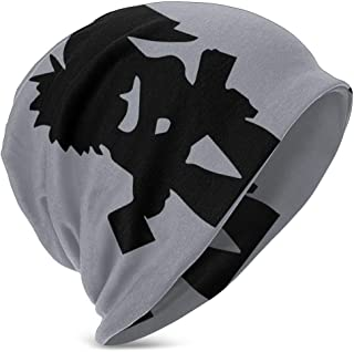 Hdadwy Beanie Hat Hatchet Man Girl Love Knit Hat Gorra Fina con puños para niños y niñas Negro