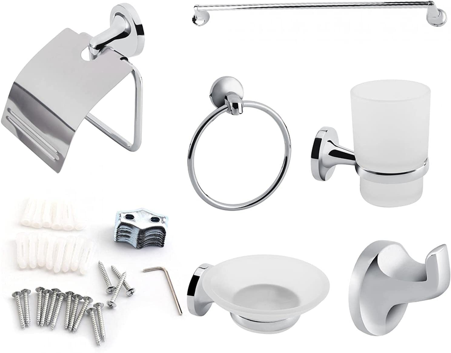 Bathroom 70% OFF Outlet Tool 6pcs Wall Mount Toilet Super beauty product restock quality top Towe Accessory Set