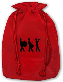 VAbBUQBWUQ Marching Band Santa Clause Bags Drawstring Bag Candy Bag for Children Holiday Wrapping Goodie Bags Party Favors